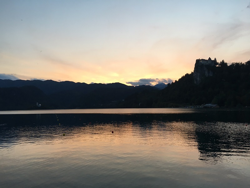 bled sunset